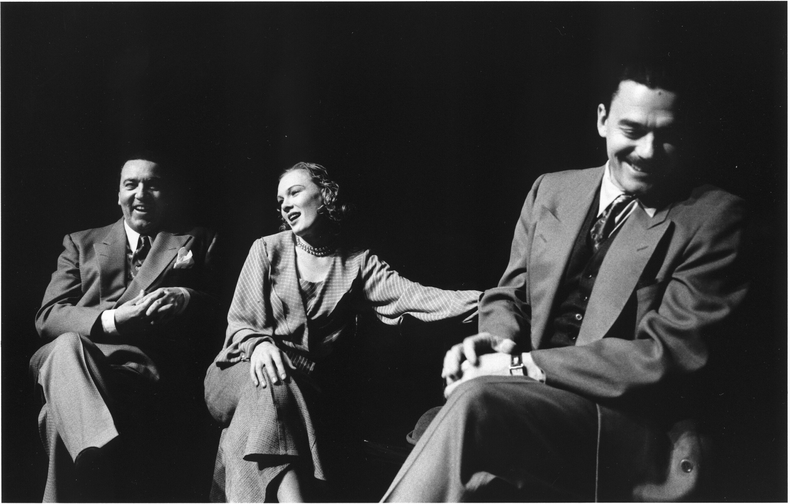 Victor Ertmanis, Tamara Bernier Evans and Tom McCamus in It's All True, Tarragon Theatre 1999.